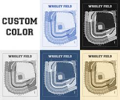what size paper are blueprints printed on vintage print of wrigley field seating chart blueprint chicago