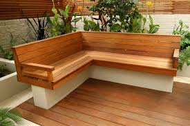 Outdoor Wood Sectional Furniture Plans by Depiction Of Outdoor Corner Bench Ideas Which Are Perfect For
