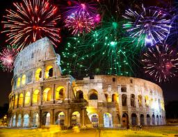 italian fireworks colosseum rome italy the best new year s