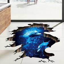 dolphin home decor 3d dolphin deep sea wall sticker bedroom bathroom floor diy home