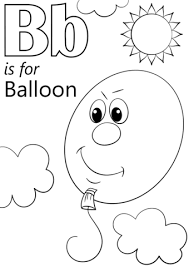 letter balloon coloring free printable coloring pages