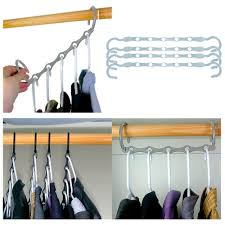 Clothes Storage No Closet New Lot 4 Space Saver Wonder Magic Clothes Hangers Closet