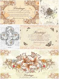 vintage flowers and ornaments vector set free