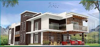 architectures exotic villa design with front yard 3d model as