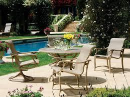 Tropitone Patio Furniture Covers - tropitone ravello sling aluminum dining set rvsds