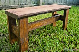 Rustic Bench Seat Simple Wood Bench Seat Plans Friendly Woodworking Projects