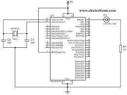 blinking led using pic microcontroller mikroc pro