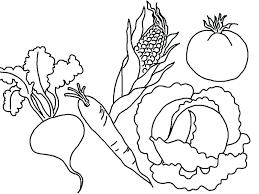 vegetable coloring pages u2013 leivancarvalho me