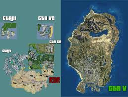 map size comparison a map comparing the sizes of all the major gta and dead