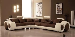 canapé d angle en cuir marron canapé d angle cuir hawai 3 canapé d angle blanc marron en cuir
