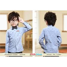 latest designer sky blue formal birthday party shirt for baby boys