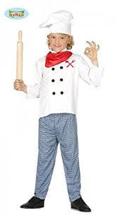 7 9 years boys chef costume for cook masterchef celebrity fancy