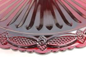 Red Cake Plate Pedestal Avon Cape Cod Pattern Ruby Red Glass Cake Stand Pedestal Plate
