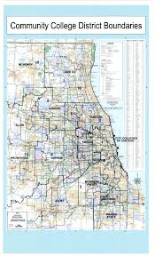 Chicago Il Map by Illinois Community Colleges With Congressional District Boundaries