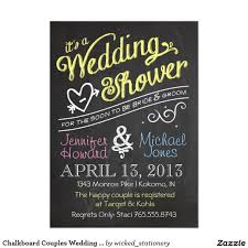 couples wedding shower invitation wording chalkboard couples wedding shower invitation black board