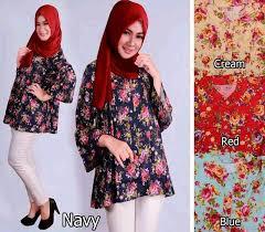 Baju Muslim Ukuran Besar atasan wanita lengan panjang ukuran besar modis terbaru