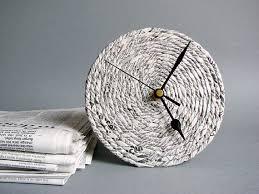 anniversary clock gifts reciclado papel escritorio reloj 1er aniversario regalo para
