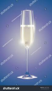 vintage champagne glasses transparent champagne glass sparkling white wine stock vector