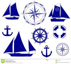 ship nautical decoration vector illustration stock vector image