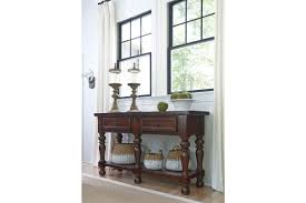 porter dining room server in rustic brown by ashley d