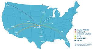 alaska air map wichita airport airline information