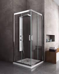 box doccia cristallo 80x80 box cabina doccia scorrevole quadrato 6 mm cromo