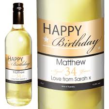 wine birthday happy birthday personalised white wine at toxicfox co uk