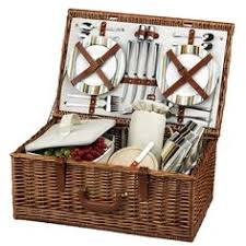picnic basket set for 4 of miami hurricanes picnic basket set florida