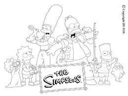 the most incredible the simpsons coloring pages to invigorate to