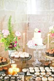 wedding registration table decor cupcake cake dessert buffet