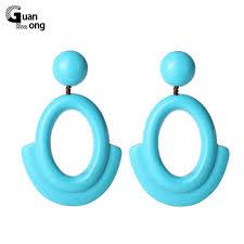 eco earrings wholesale simple resin material big dangle earrings european eco