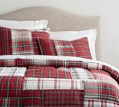 holiday bedding pottery barn