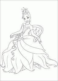 free printable princess tiana coloring pages kids