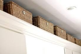 Enchanting  Baskets For Kitchen Cabinets Decorating Inspiration - Above kitchen cabinet storage