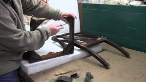 upholstery how to repair a loose chair frame youtube