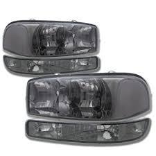 2006 gmc sierra tail lights gmc sierra 1999 2006 smoked clear headlights and bumper lights