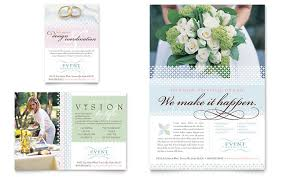 Wedding Booklet Templates Wedding U0026 Event Planning Brochure Template Design