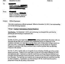 see the letter sent to a gov u0027t employee reprimanding him for his