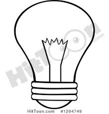 Light Bulb Clipart Light Bulb Clipart 1204749 Black And White Light Bulb By Hit Toon