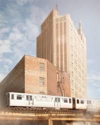 chicago photography cta l train urban skyline wall art