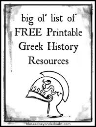 blank map of ancient greece free ancient greece printables for your homeschool history