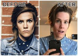 breaking cameron esposito cuts off half of her iconic alternative