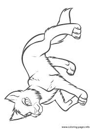 warrior cat draw a4 coloring pages printable