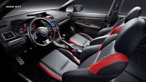subaru rsti interior subaru interior features 2017 subaru wrx sti interior features