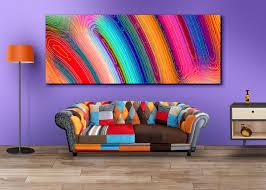 colourful watercolour wall art for home decor canvas print