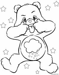 coloring attractive care bears coloring pages grumpy