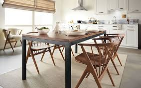 Parsons Dining Table With Soren Dining Chairs Modern Dining Room - Room and board dining tables