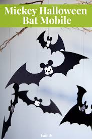 Halloween Bats To Color by Mickey Halloween Bat Mobile Disney Family