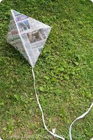 diy newspaper kite living well spending less