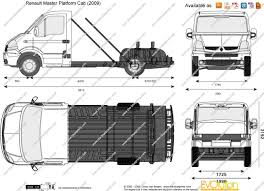renault master bus the blueprints com vector drawing renault master platform cab